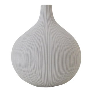White Ceramic Bisqueware Vase