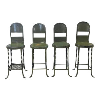 1930s American Industrial Adjustable Stool, 8 available