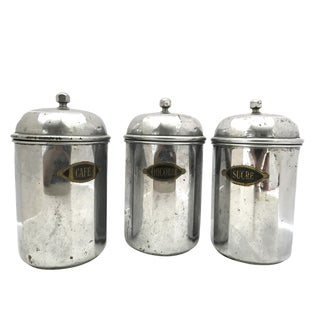 Belgian Metal Stock Containers - Set of 3