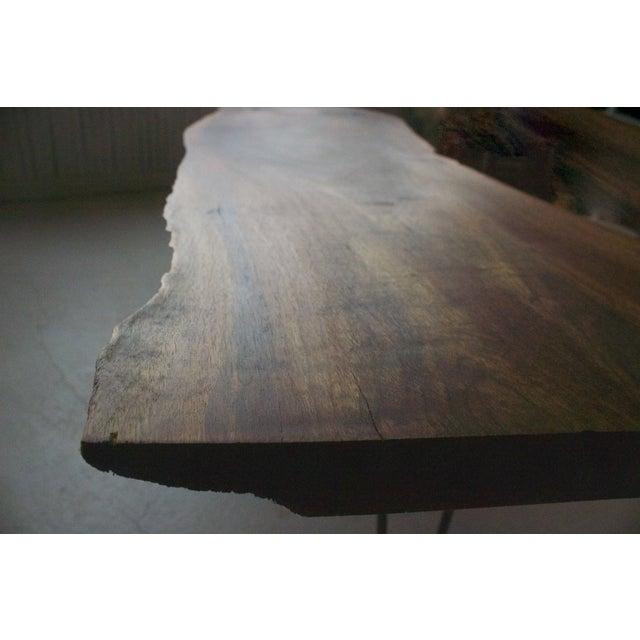 Black Walnut Live Edge Coffee Table, Hairpin Legs - Image 8 of 12