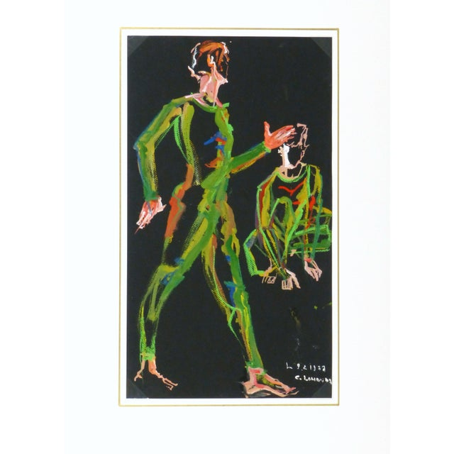 Image of Vintage French Modern Art Abstract of Man