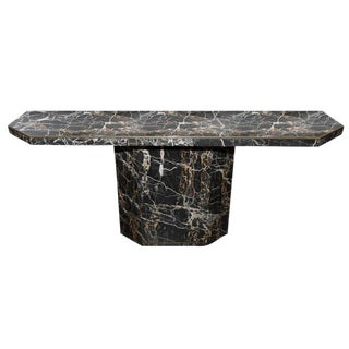 1970s Willy Rizzo Attributed Marble Console Table