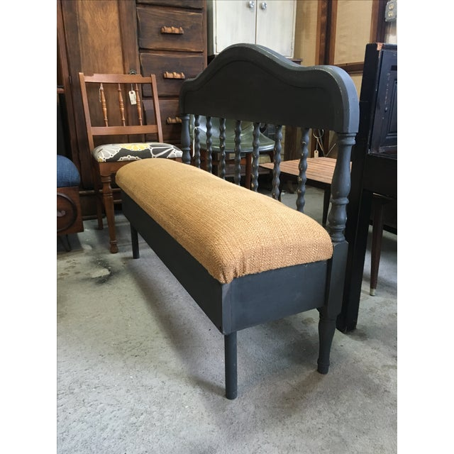 Antique Headboard Bench - Image 2 of 4