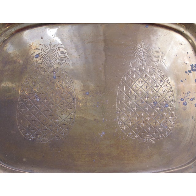 Vintage Brass Pineapple Tray - Image 5 of 5
