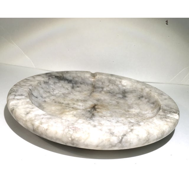 Image of Large Solid Marble Ashtray