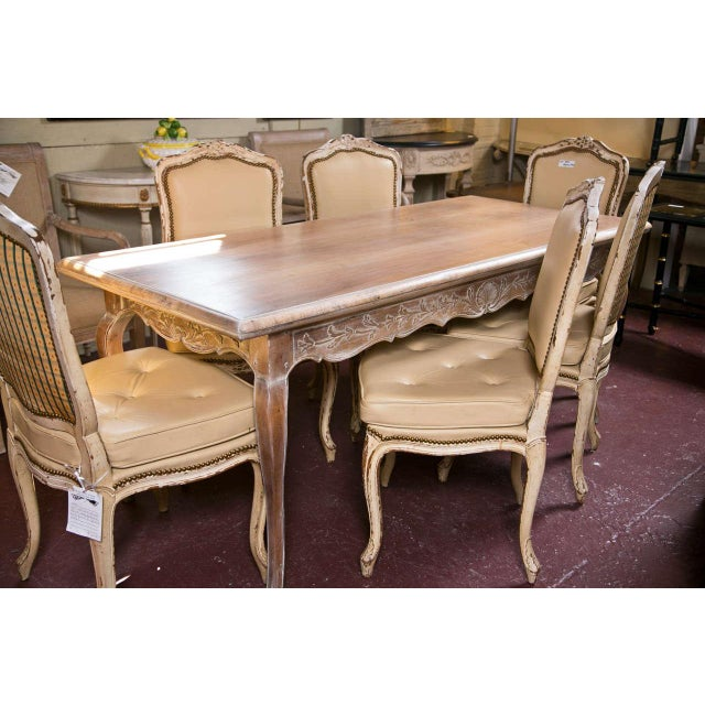 French Country Distressed Coffee Table: French Provincial Style Distressed Dining Table