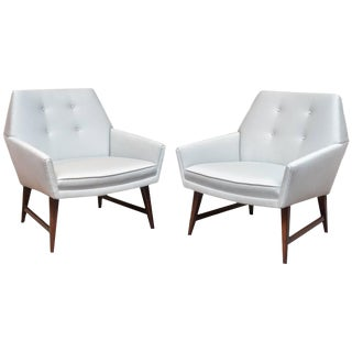 1950s Mid-Century Sculptural Club Chairs - A Pair