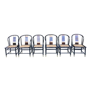 Henredon Asian Style Dining Chairs- Set of 6