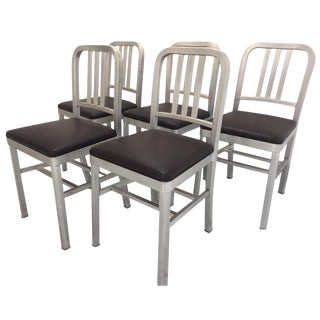 Emeco-Style Aluminum Chairs - Set of 5