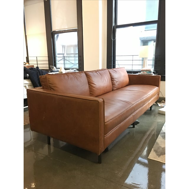 Axel West Elm Leather Couch - Image 2 of 5