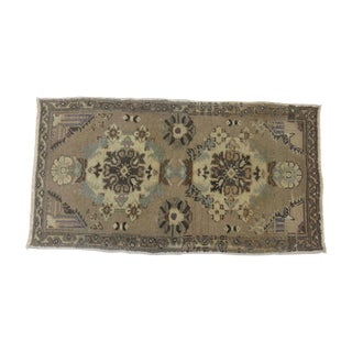 Lavender Turkish Throw Mat - 1′7″ × 2′10