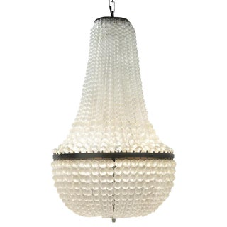 Frosted Glass Beaded Mist Chandelier