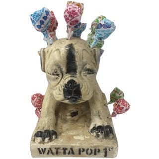 Vintage Chief Watta Pop Chalkware Dog Display