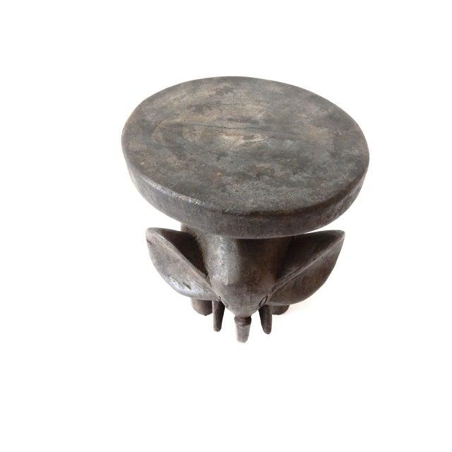 Carved Elephant Milk Stool - Image 6 of 11
