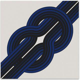 Mid-Century Serigraph Art 1973 - Blue Knot