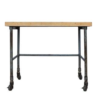 Steel Frame Butcher Block Table