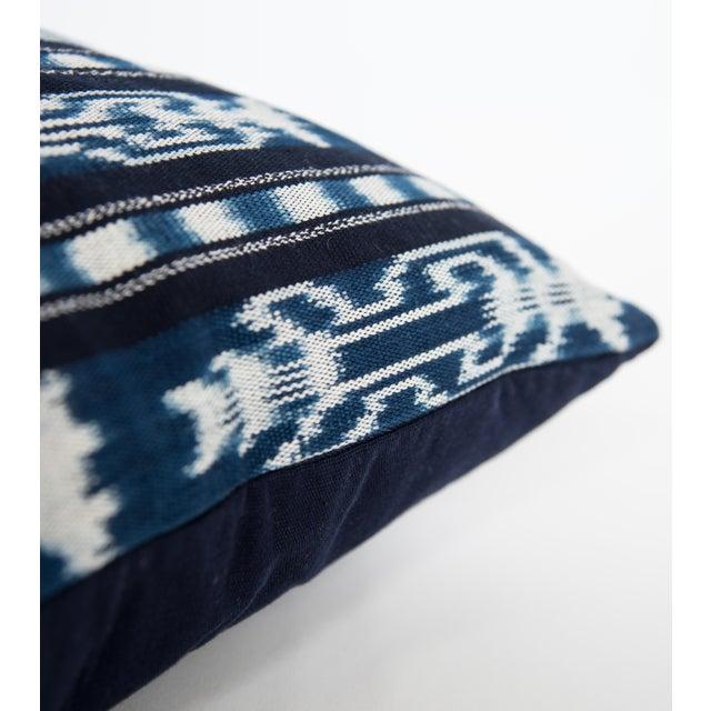 Guatemalan Indigo Ikat Pillow - Image 2 of 3