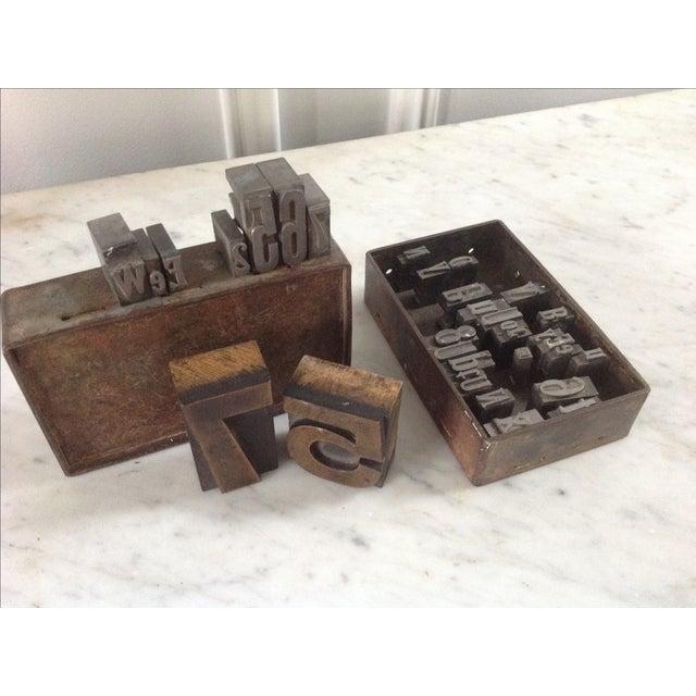 Vintage Industrial Letterpress Blocks - Set of 34 - Image 5 of 8