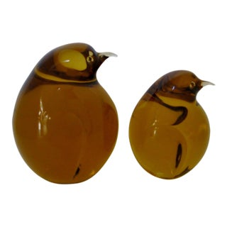 Vintage Murano Glass Penguins - a Pair