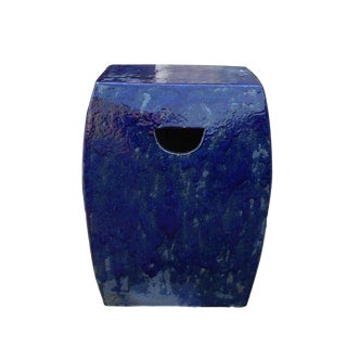 Chinese Navy Blue Clay Garden Stool