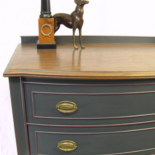 Image of Vintage Painted Mahogany Server