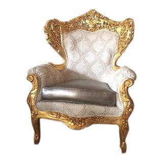 Antique Italian Rococo Style Chair
