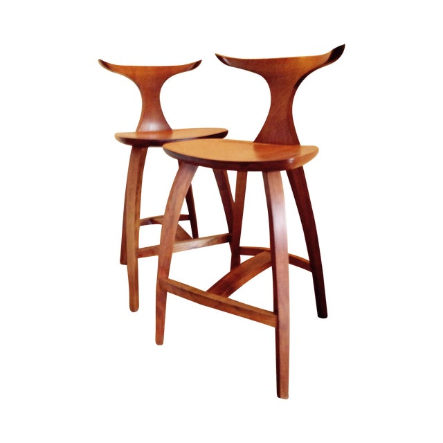 Image of Thos. Moser Counter Height Stools - a Pair