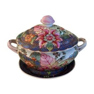 Chinoiserie Tureen With Underplate