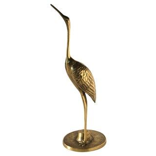 Brass Heron Sculpture