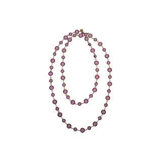 Chanel Vintage Pink Sautoir Necklace