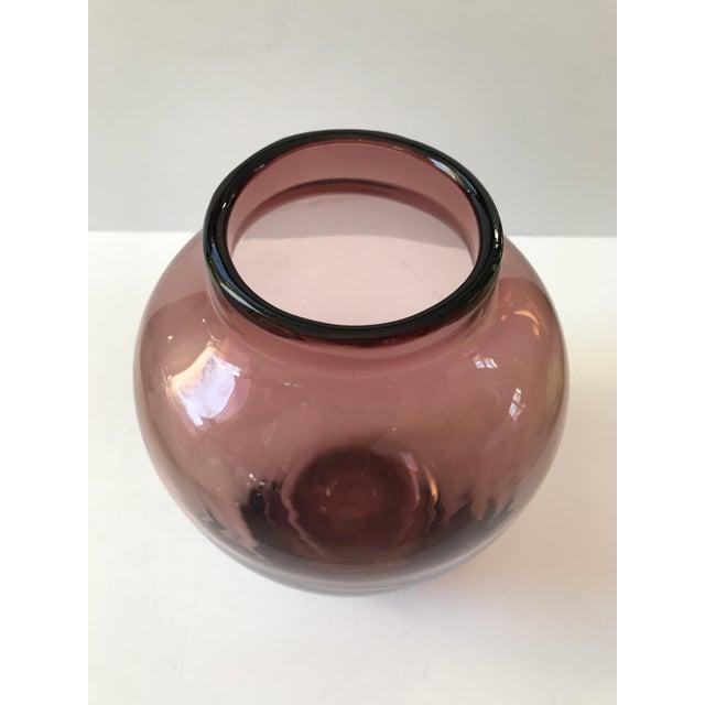 Amethyst Art Glass Vase - Image 2 of 6
