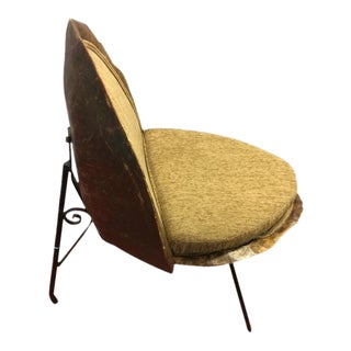 1950s Vintage Reupholstered Tortoise Shell Chair