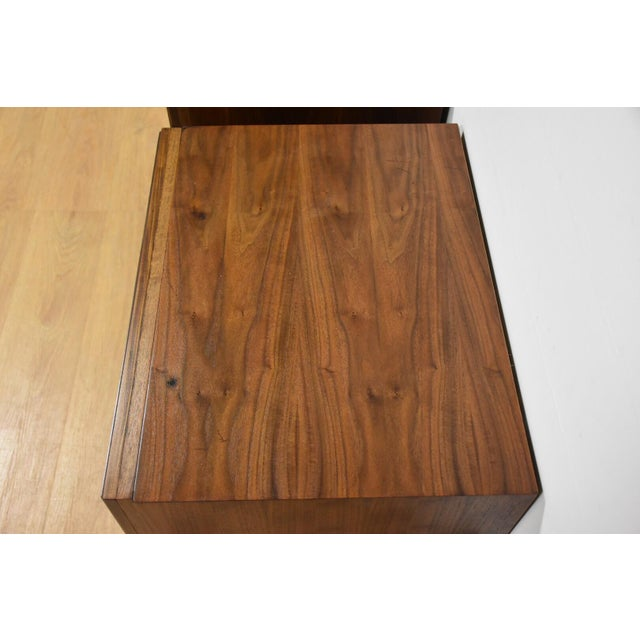 Mid-Century Brutalist Walnut Nightstands - A Pair - Image 8 of 11