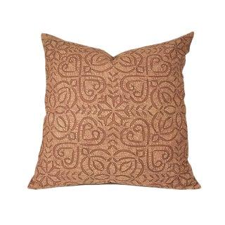 Tan Applique Pillow