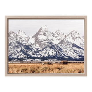"Original ""Cabin in the Tetons"" Framed Photograph"