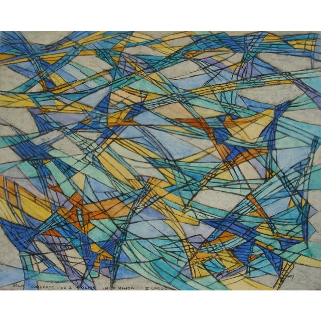 """""""Bach-Inspired #1,"""" Hildegarde Haas Painting - Image 1 of 2"""