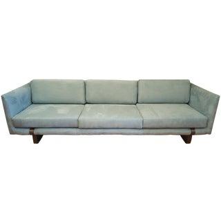 Milo Baughman Sleigh-Base Sofa