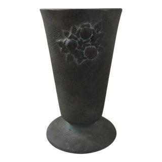 Turquoise & Gray Ceramic Vase