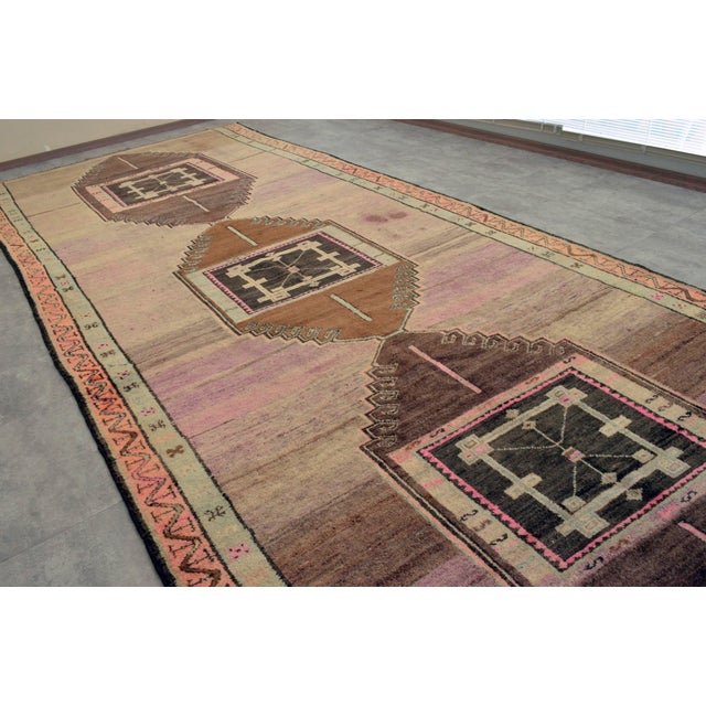 Hand Knotted Turkish Kars Rug - 5′9″ × 13′11″ - Image 11 of 11