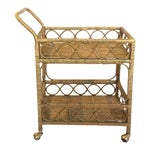 Image of Regency Rattan Bar Cart