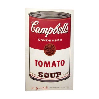 Andy Warhol's Campbell's Tomato Soup Can Poster