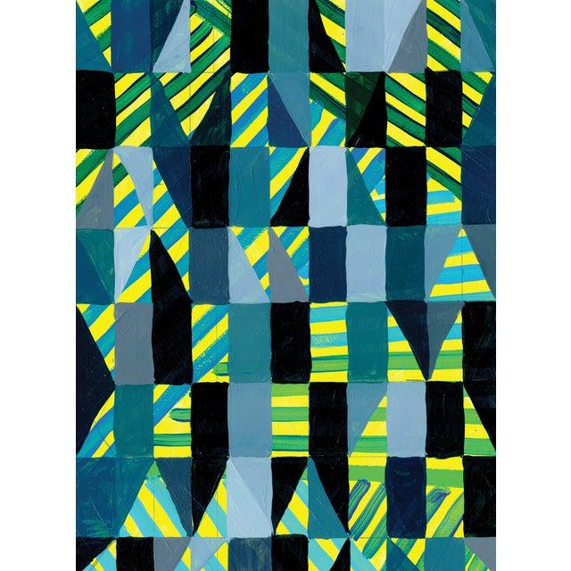 Ny15 #12 Original Geometric Painting - Image 1 of 5