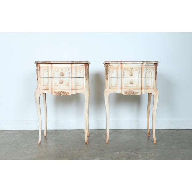 French Style Nightstands - A Pair - Image 3 of 11