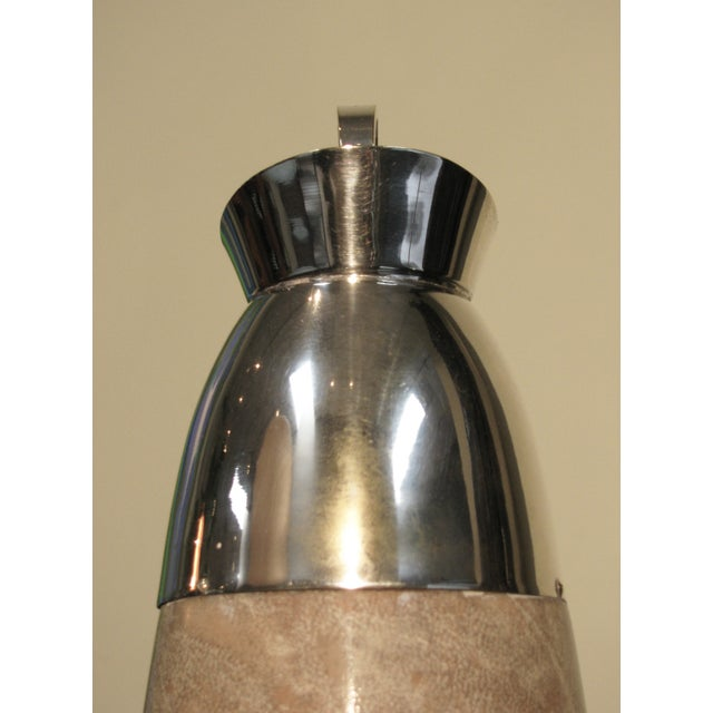 Aldo Tura Lacquered Goatskin Carafe on Stand - Image 8 of 8