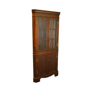 Craftique Solid Mahogany Chippendale Style Corner Cabinet
