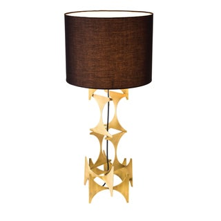 Brutalist Style Gold Judith Table Lamp