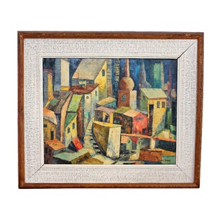 Mid-Century Modern Expressionist Painting