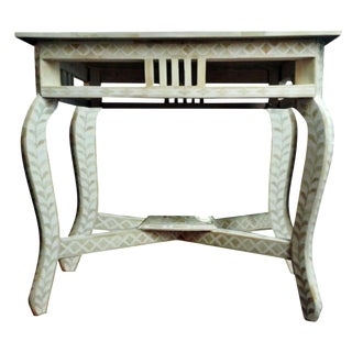 Mosaic Style Bone Inlay Console Table