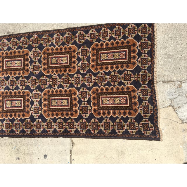 Baluchi Wool Rug Runner - 2′10″ × 9′6″ - Image 4 of 4