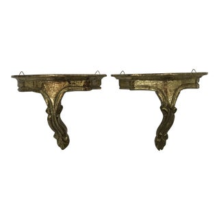 Florentine Gilded Wall Brackets - A Pair
